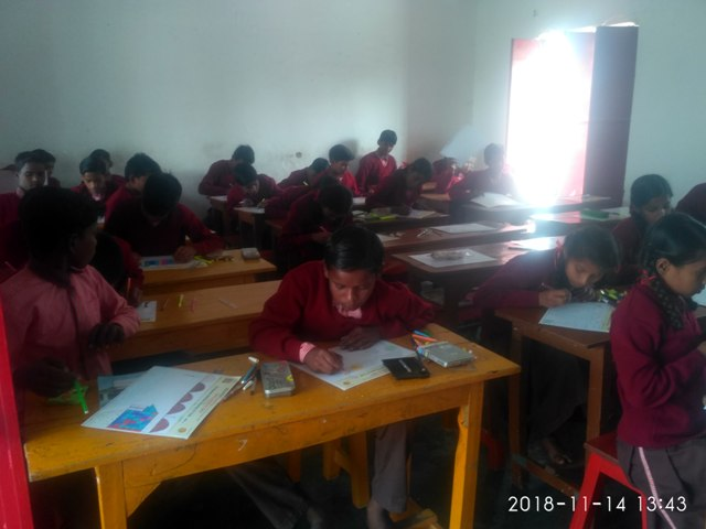 Children busy in drawing