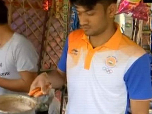 Harish Kumar, the Asian Games bronze medallist, sells tea for a living