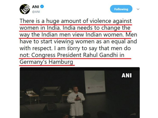Congress President Rahul Gandhi defames Indian Men in Germany's Hamburg