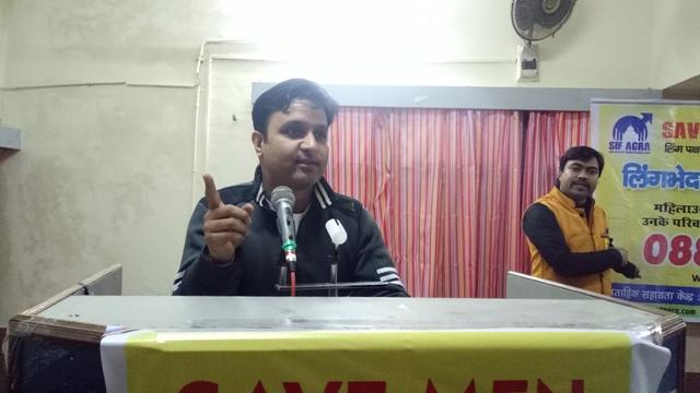 Navin Chandra addressing the seminar