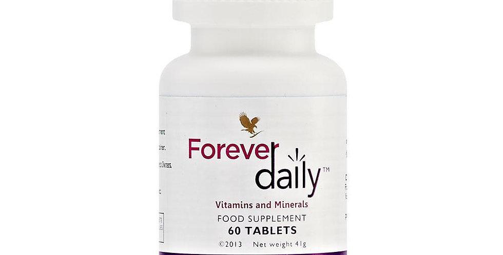 forever daily, dabīgs uztura bagātinātājs ikdienai, vitamīni un minerālvielas