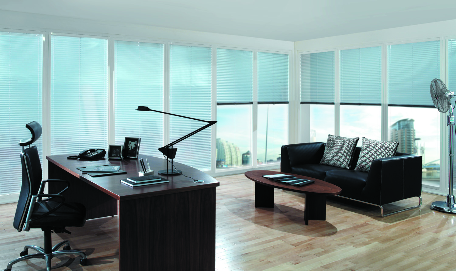 Pleated -Office blinds