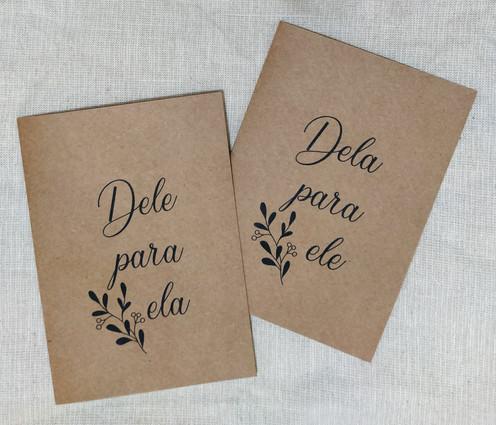 Caderno de votos em craft