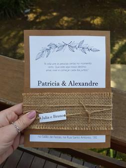 Convite de casamento rústico - Alexandre