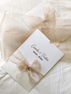 Convite de casamento moderno - Camila