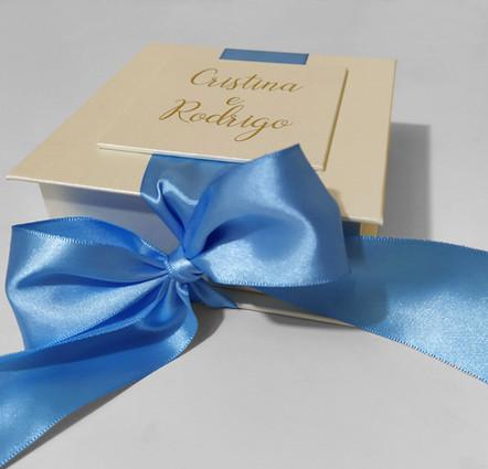 Caixa para padrinhos azul serinity