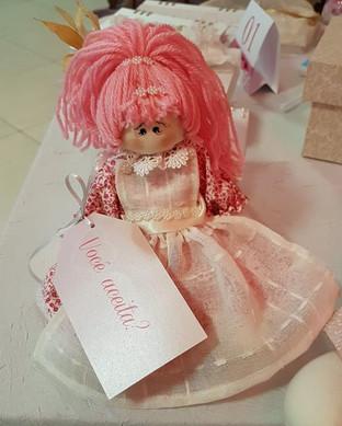 Convite daminha - Boneca