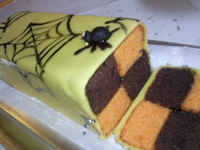 Chocolate and Orange Cake wrapped in Marzipan