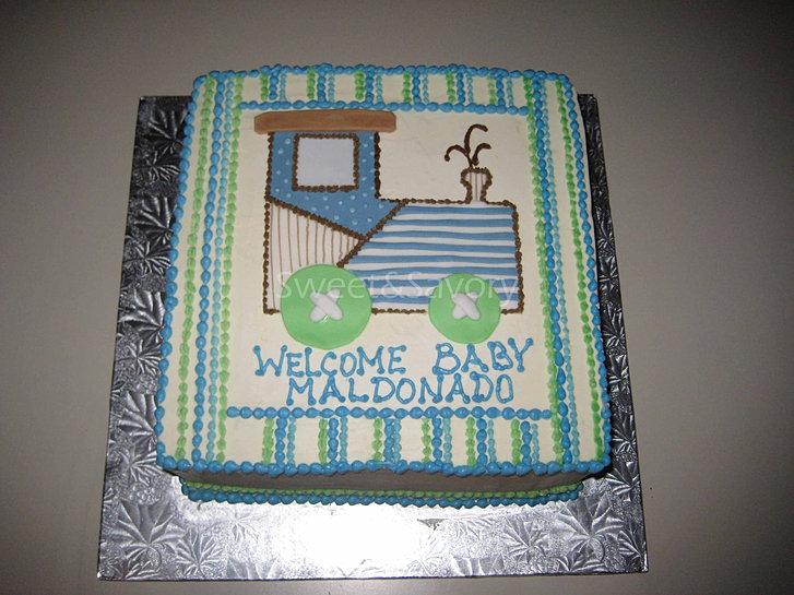 Train Baby Shower Cake Part - 50: Train-baby-shower-cake
