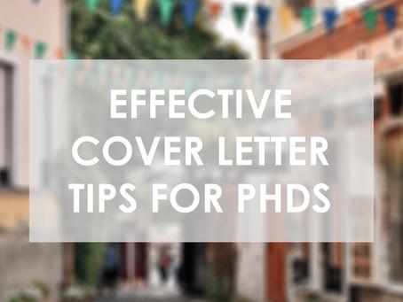 Effective Cover Letter Tips for PhDs