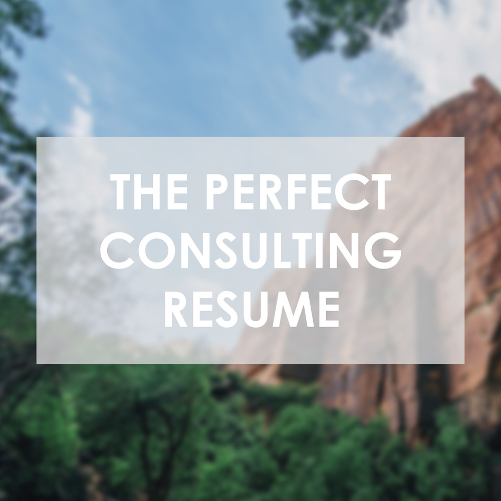 phd to consulting resume cover letter