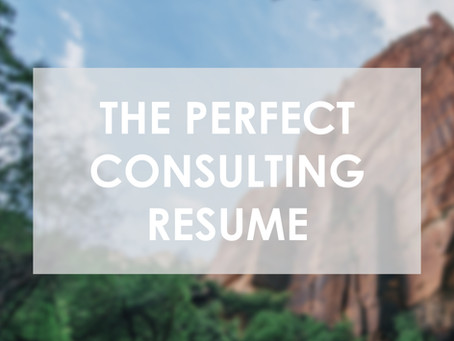 The Perfect Consulting Resume