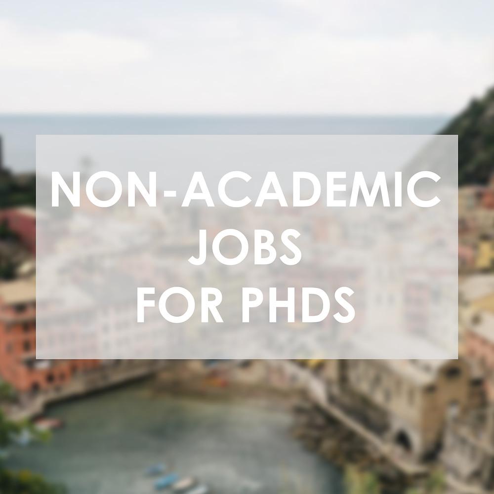 non academic jobs for phds