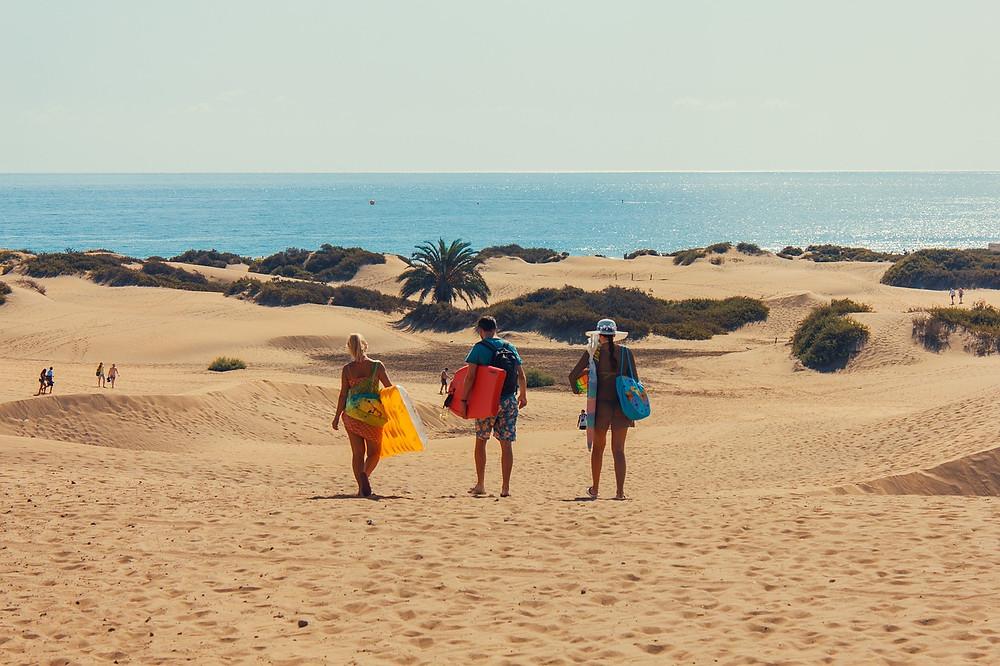 Duny v Maspalomas, jih Gran Canaria