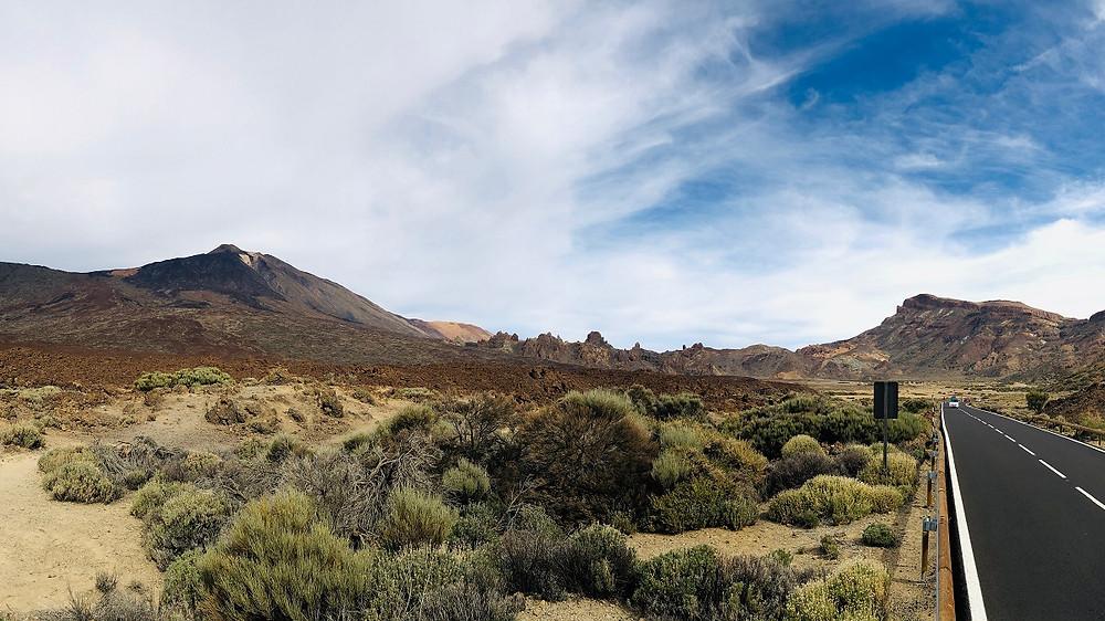 Pohled na krajinu v národním parku Teide