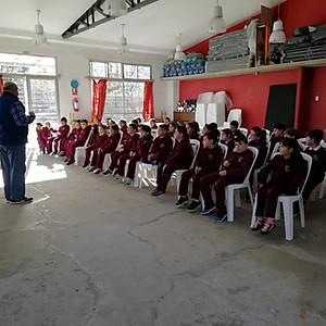Educación Vial con el abuelo de Magdalena 2ºaño.