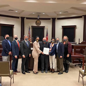 Sugar Hill Mayor & City Council Presenting BWASH with Proclamation