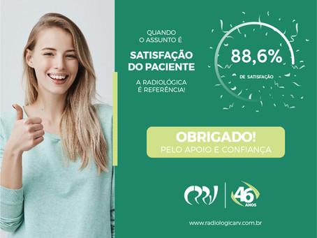 RECONHECIMENTO: Em pesquisa junto aos clientes, a Clínica alcança 88,6 % de satisfação