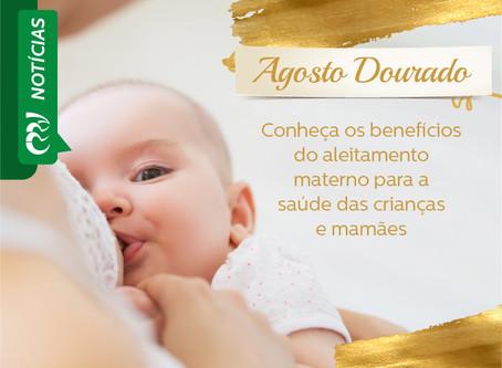 AGOSTO DOURADO: Conheça benefícios do aleitamento materno para a saúde das crianças e mamães