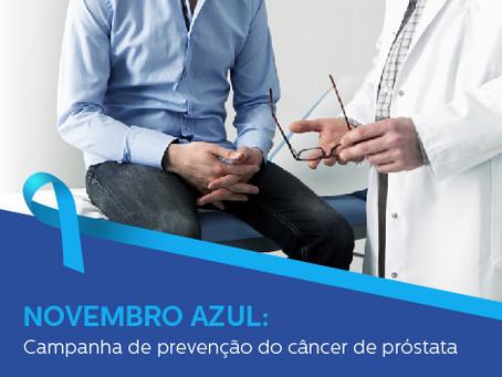 NOVEMBRO AZUL: Começa nesta sexta-feira a campanha de prevenção do câncer de próstata