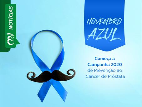 NOVEMBRO AZUL: Começa a Campanha 2020 de Prevenção ao Câncer de Próstata