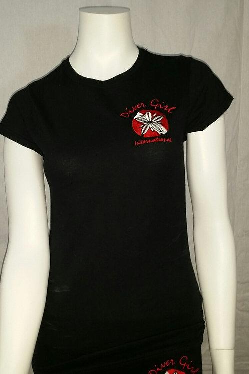 Diver Girl Black Embroidered logo (blank back)