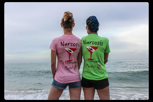 Narcosis, My Under Water Martini Vee Neck Tee