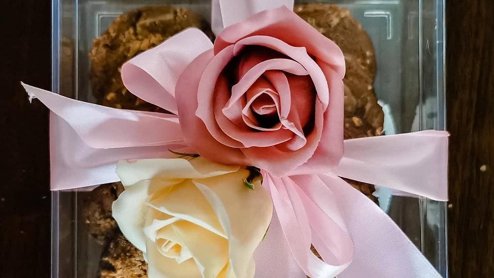 Rose Ribbon Cookie Gift Box
