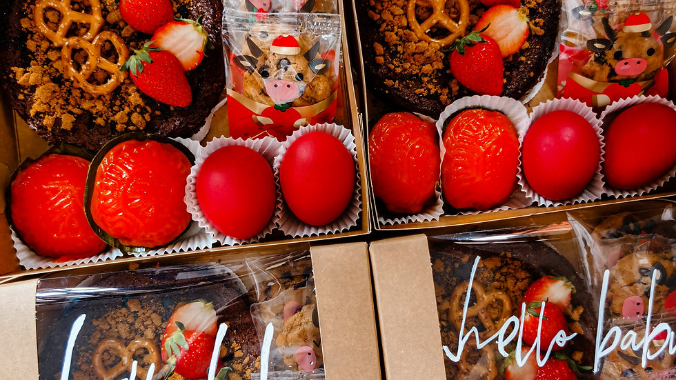 Brownies Fullmoon Box (L) 布朗尼满月盒 (大) with baby photo