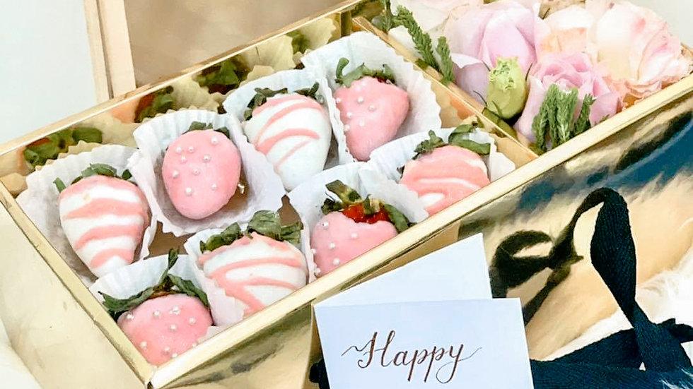 Romanberry Box 粉红草莓花束礼盒