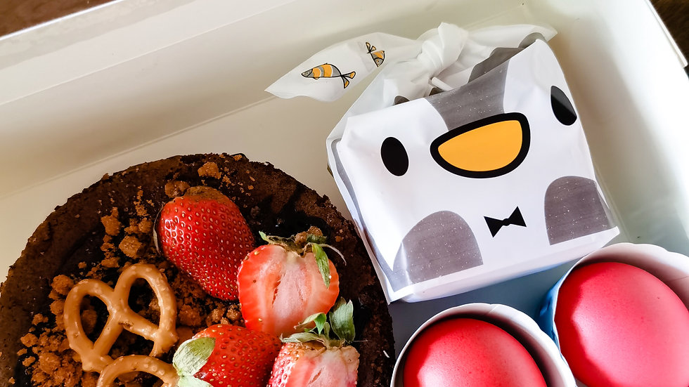Brownies Fullmoon Box (S) 布朗尼满月盒 (小) with baby photo