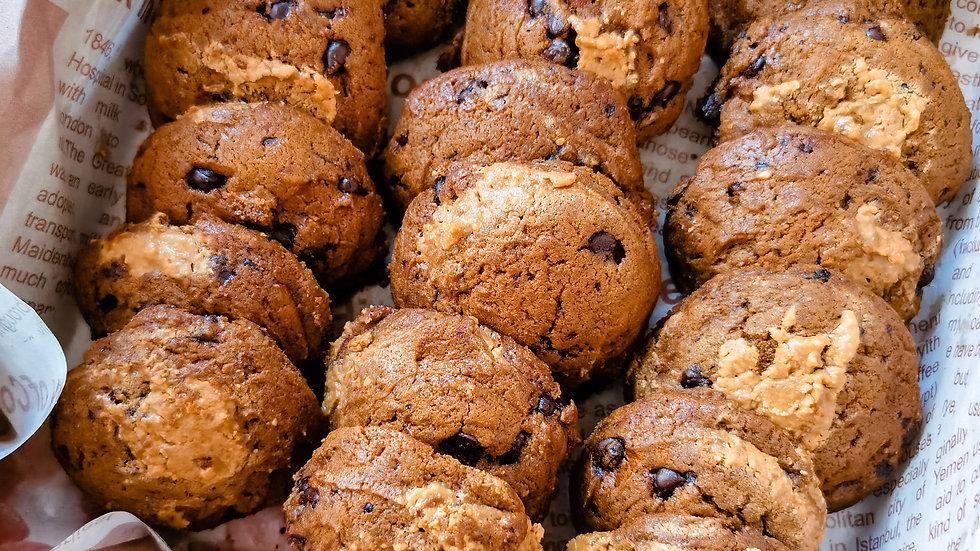 Chocolate Peanut Cookies Platter Kraft Box 巧克力花生饼盒