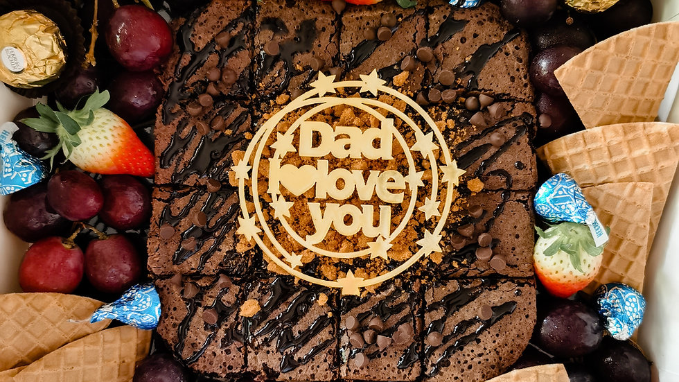 Father's Day Chocolate Platter Gift Box with Walnut Brownies 父亲节巧克力礼盒