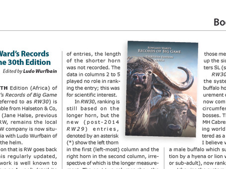 Magnum reviews Rowland Ward's Records of Big Game 30th edition (Africa)