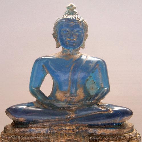 Boeddha beeldje blauw hars