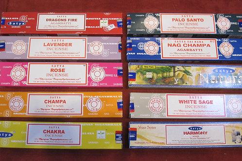 Satya wierook pakjes diverse soorten