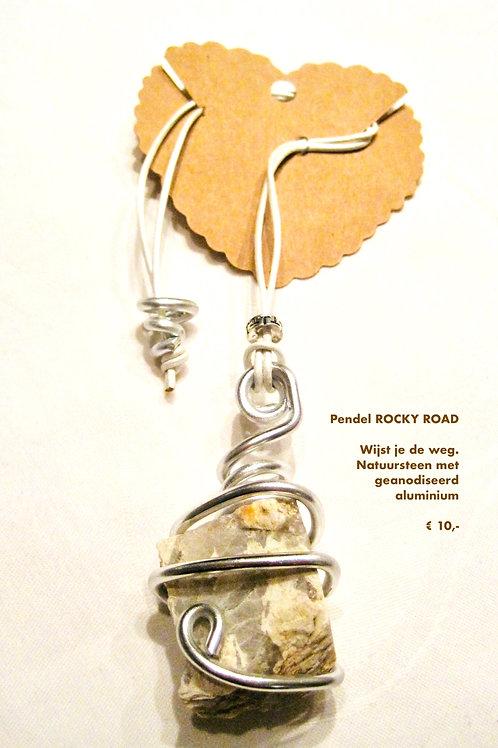 Pendels, handgemaakt met natuursteen/geanodiseerd aluminium