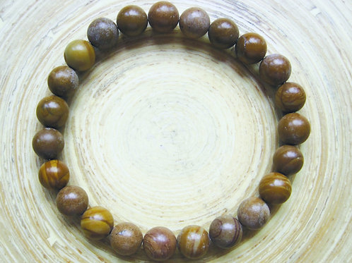 Caramel Jaspis  armband bolletjes