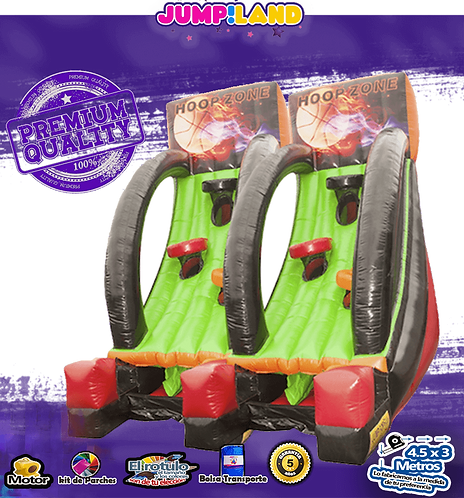 Inflable Basquet Rock doble