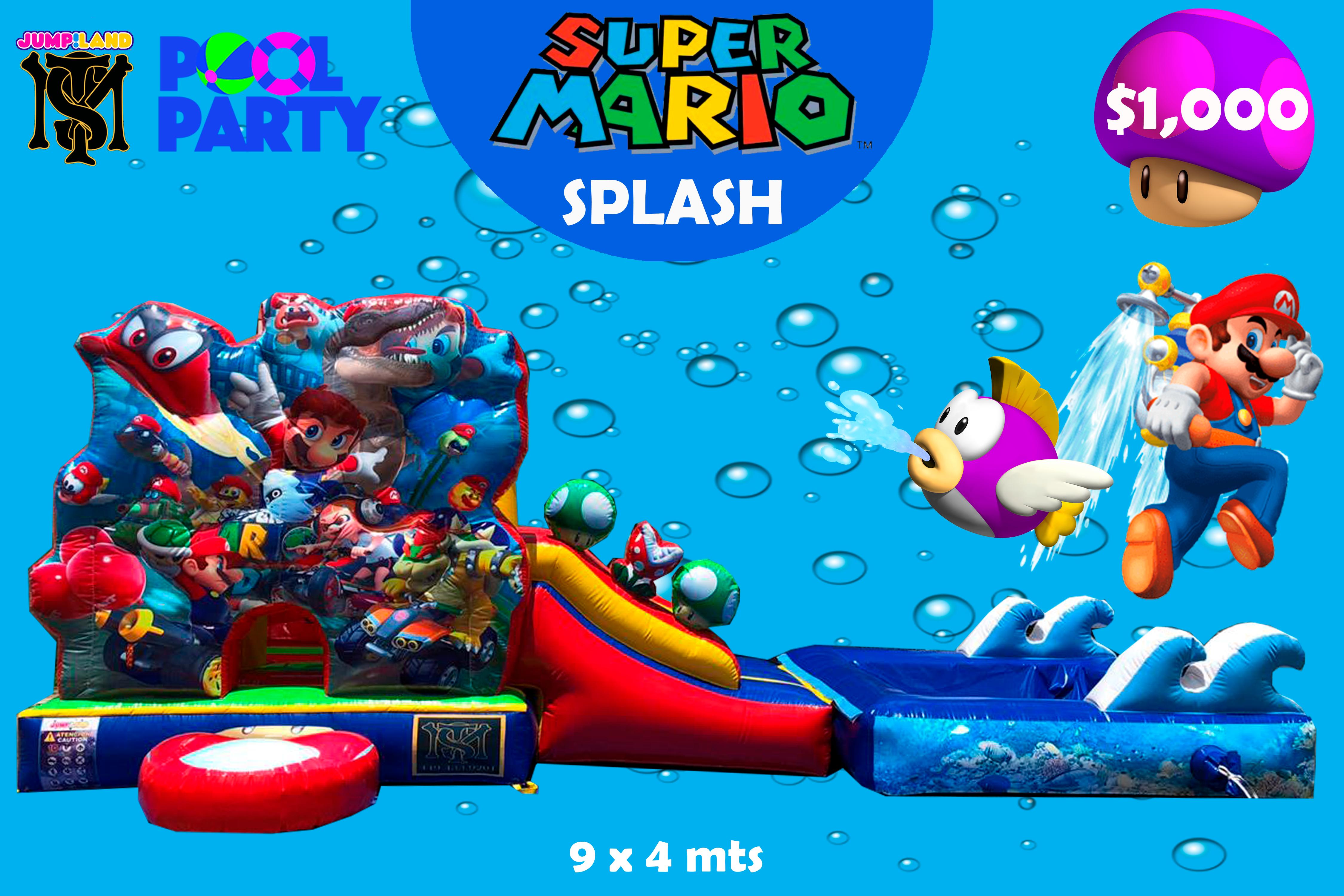 Inflable Mario Splash