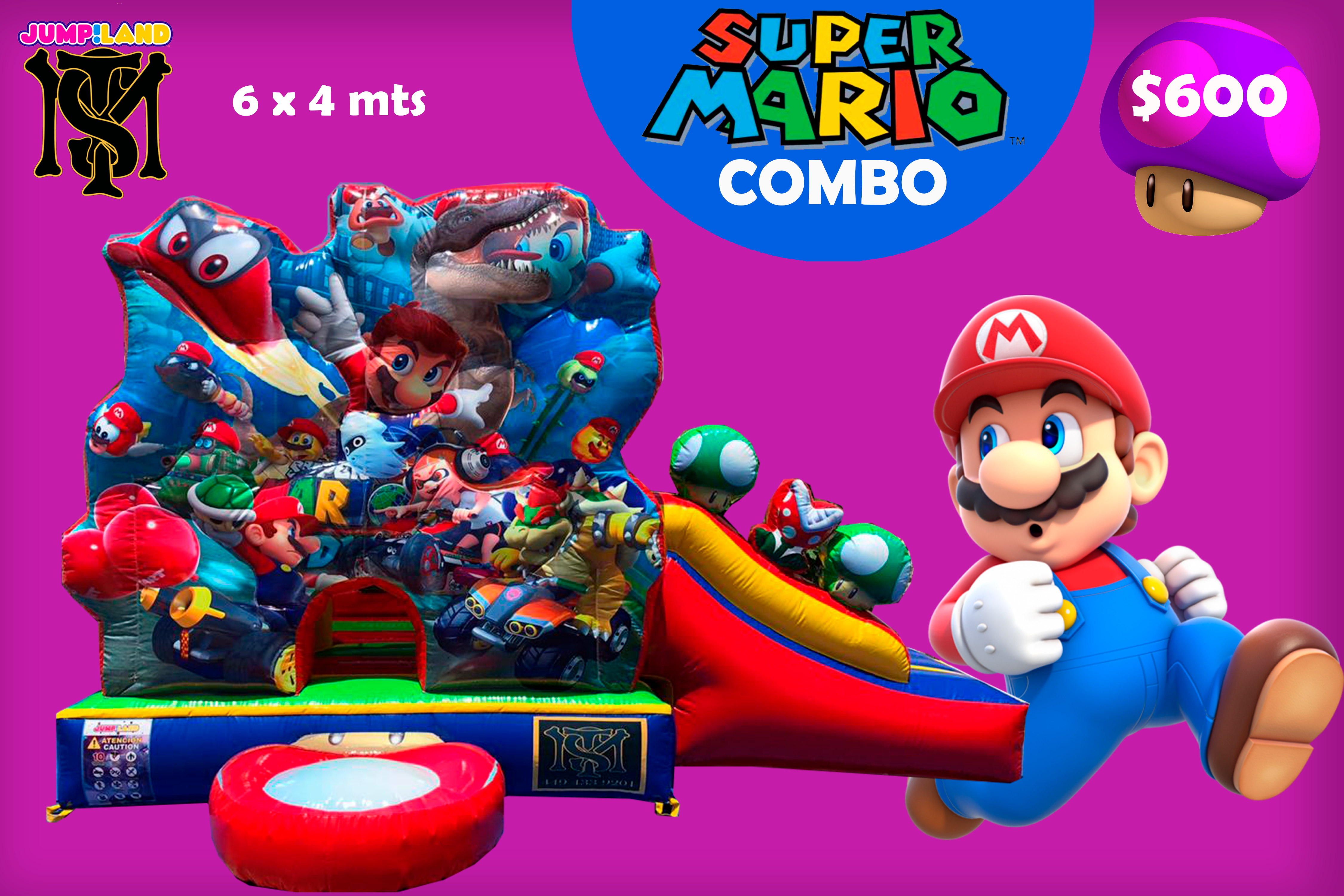 Combo inflable Super Mario