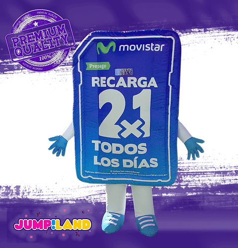 Inflable Andarin Movistar