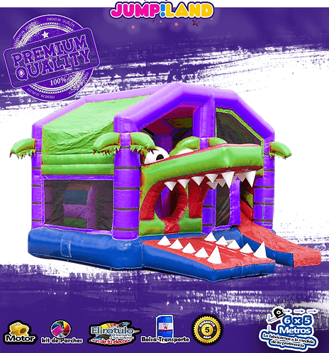 Inflable House cocodrilo