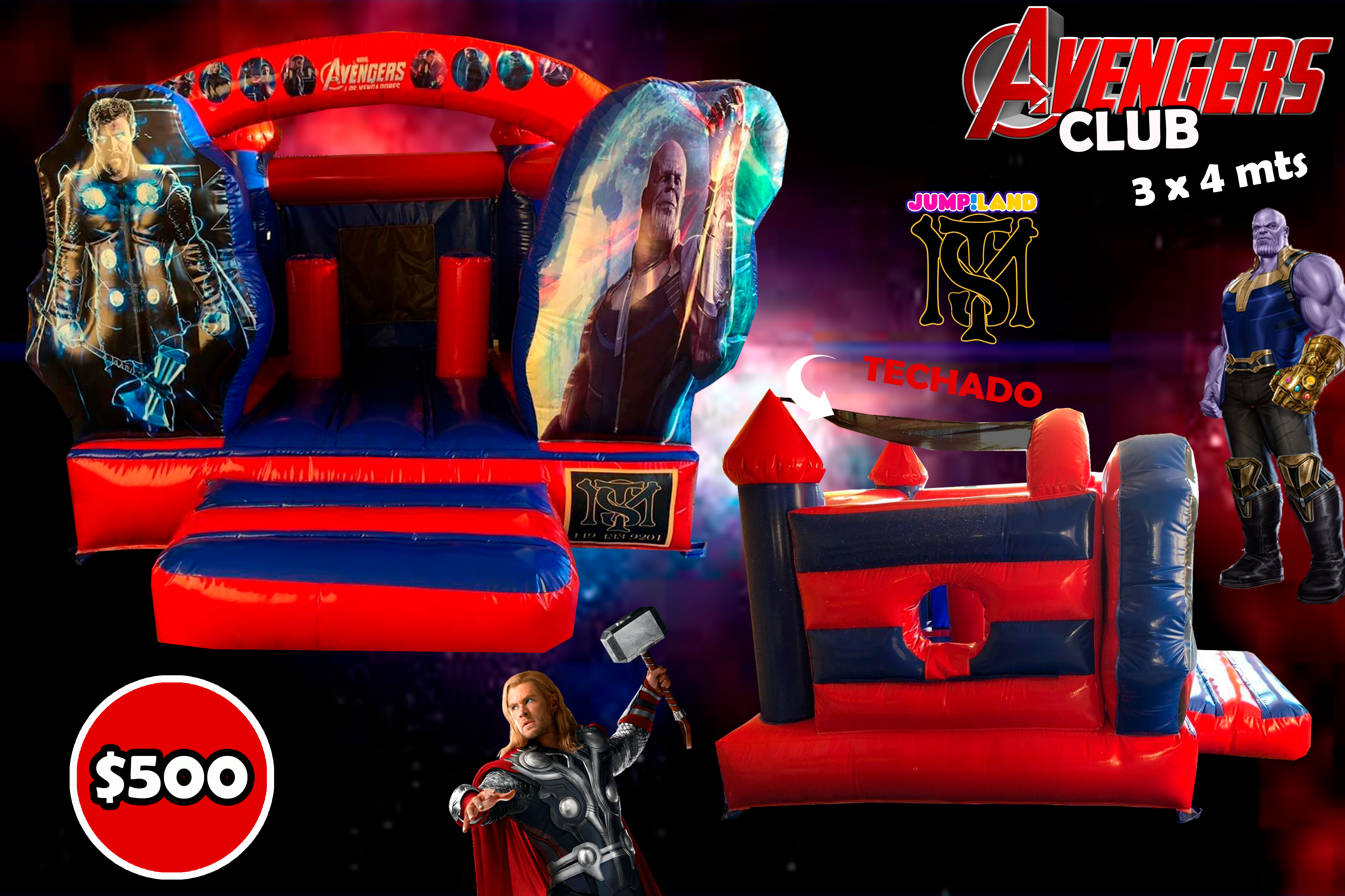 INFLABLE AVENGERS CLUB