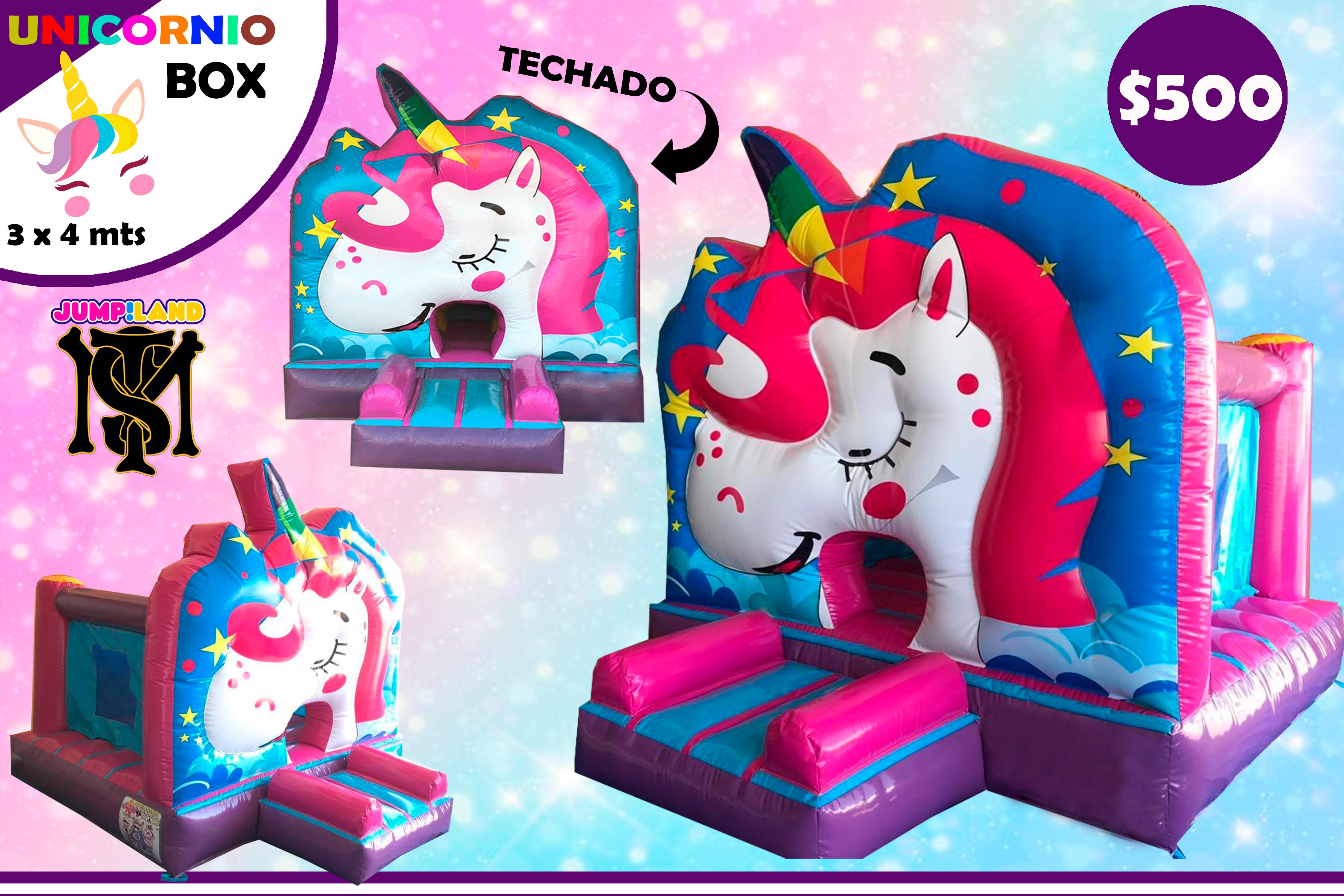 Inflable Unicornio Box