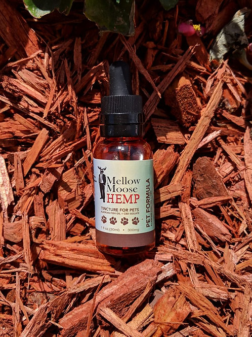 300mg Mellow Moose Hemp's Tincture for Pets