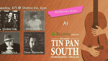 """Lindsey To Perform At """"Tin Pan South"""" Songwriters Festival"""