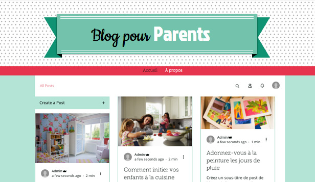 Blogs et forums website templates – Blog Famille