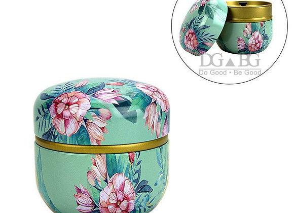 Blue Flower Urn Funeral Casket: Small For Pet (Sold As Is)