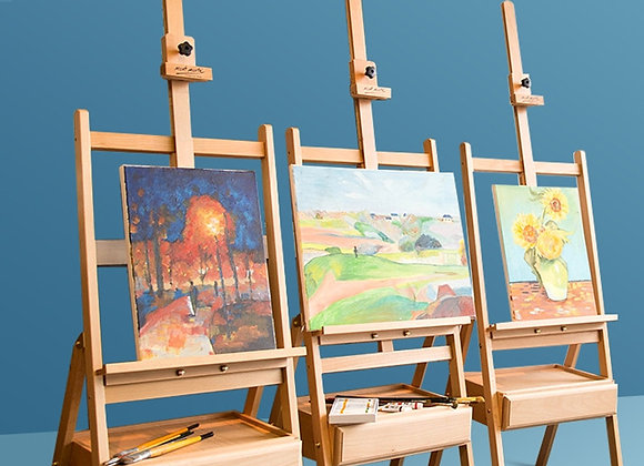 Adjustable Beech Easel for Artistry and Showcasing Canvas & Poster Art